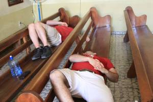 This is what happens when you go door to door (by foot) in the hot climates of Cuba for two hours....POOPED OUT lol