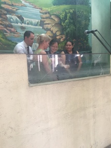 Ande's mother is the one with the blonde hair. So glad that God used her sons to bring her to Christ.